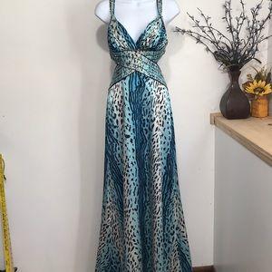 Cache women's sequins prom/wedding long dress-2
